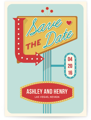Sign Of Love Save the Date Cards