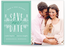 Tiny Initials Save The Date Cards