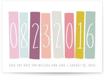Color Blocking Save the Date Cards