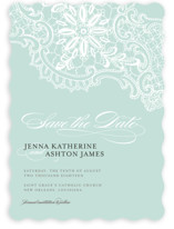 White Lace Save the Date Cards