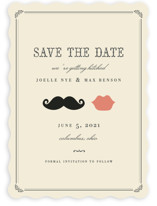 Stache + Kiss Save the Date Cards