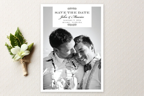 Swirl Deco Save The Date Cards