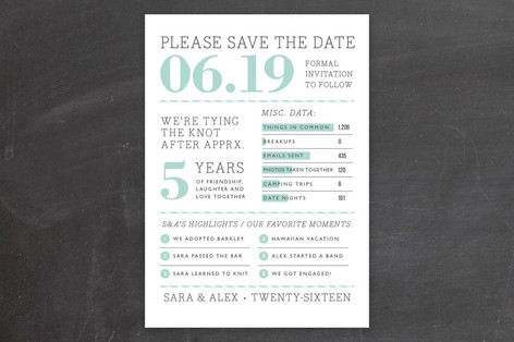 Year in Review Save The Date Cards