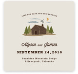 Log Cabin Save The Date Cards