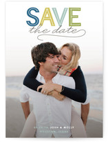 Modern Headline Save The Date Cards