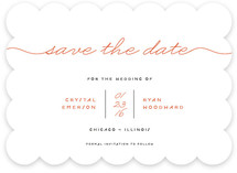 Modern Handwriting Save The Date Cards