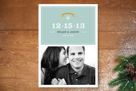 Simple Snowflake Save The Date Cards