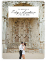 Bookplate Save the Date Cards