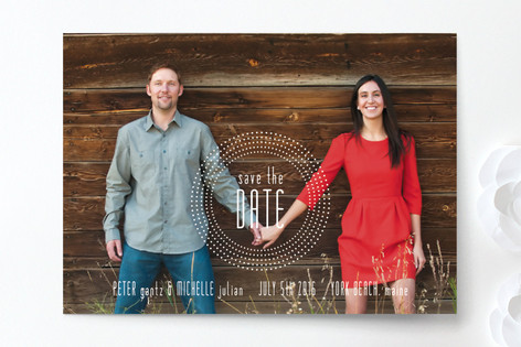 Embossed Save The Date Cards