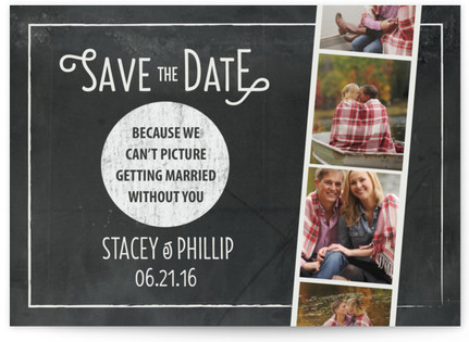 Chalkboard Photo Booth Save the Date Cards