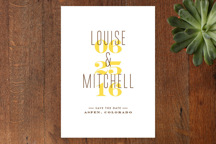 """""""Simply Us"""" - Modern, Simple Save The Date Cards in Sunshine by Jana Volfova."""