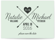 Cross My Heart Save The Date Cards