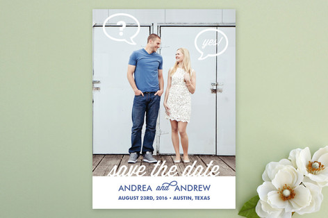 Pop the Question Save The Date Cards