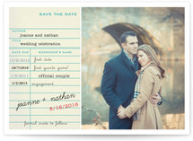 Library Card Save The Date Cards