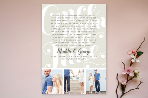 Once Upon a Time Save The Date Cards