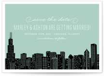 Big City - Chicago Save the Date Cards