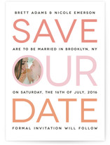Type Stripe Save The Date Cards