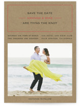 Vintage Kraft Save The Date Cards
