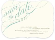 Winter Flourish Save the Date Cards