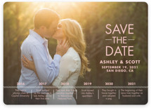 Our Timeline Save The Date Cards