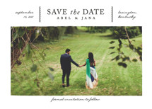 Crossed Save the Date Cards