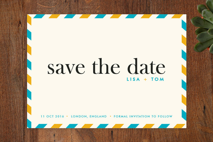 """float + aerogram"" - Modern, Destination Save The Date Cards in Paradise by Float Paperie."