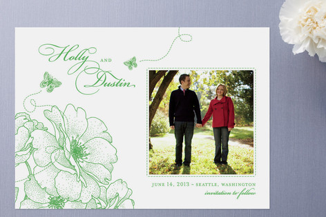 Garden Vignette Save The Date Cards
