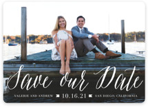 Modern Script Save The Date Cards