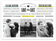 You + Me = We Save the Date Cards