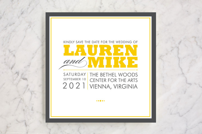 """""""Cocktail Hour"""" - Modern, Formal Save The Date Cards in Golden by Ariel Rutland."""