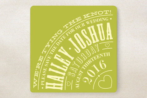 Vintage Typography Poster Save The Date Cards