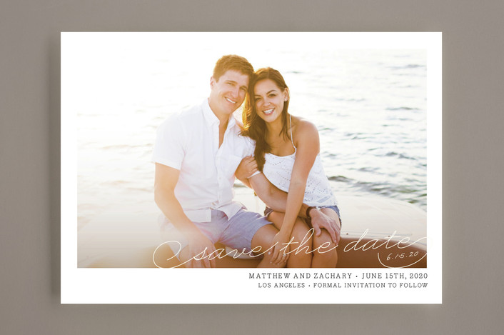 """""""Vintage Photograph"""" - Vintage, Vintage Save The Date Cards in White by annie clark."""