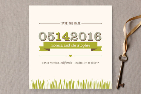 Organic Save The Date Cards