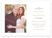 Wedding Bells to Jingle Bells Save The Date Cards
