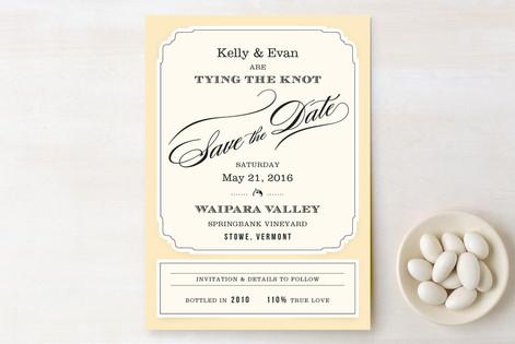 Posh Wine Label Save The Date Cards
