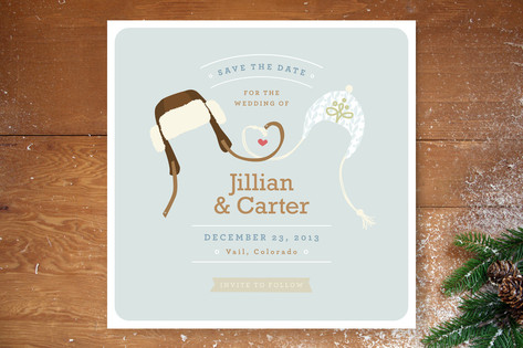 Snow Birds Save The Date Cards