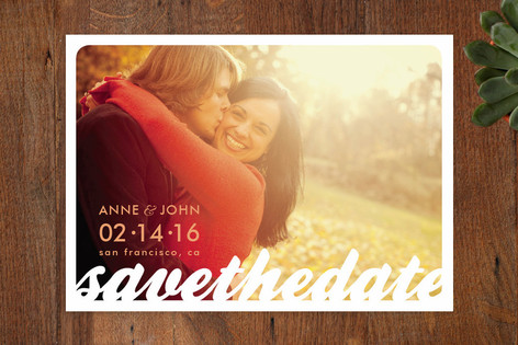 All the Way Save The Date Cards