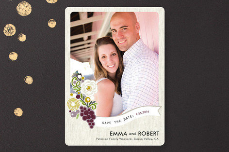 Zinfandel Flowers Save The Date Cards
