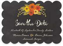 Plentiful Blossoms Save The Date Cards