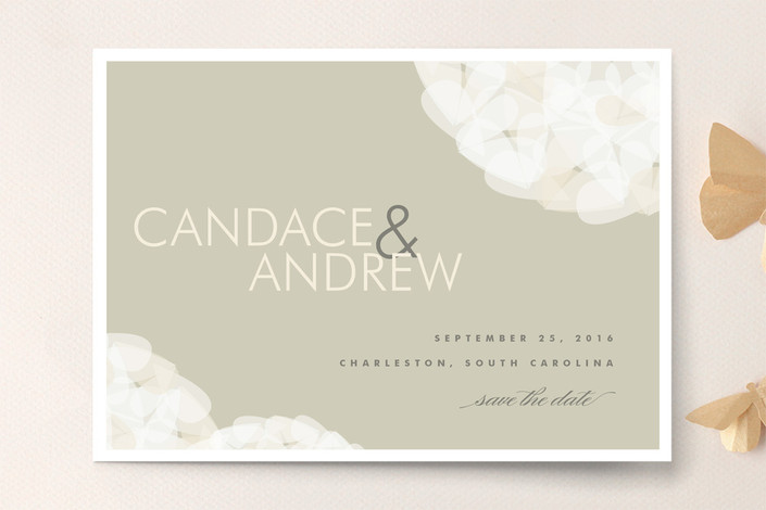 """""""Modern Tulle"""" - Elegant, Formal Save The Date Cards in Clay by Kristie Kern."""