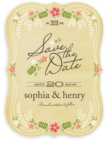 Wisteria Save The Date Cards