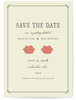 Kiss + Kiss Save The Date Cards