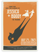 Retro Movie Poster Save The Date Cards