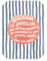 Ocean Stripe Save The Date Cards