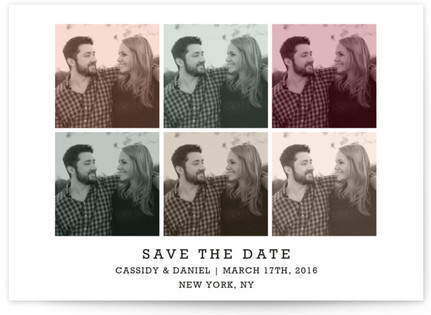 Modern Pop Art Save the Date Cards