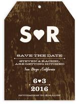 Black Veneer Save the Date Cards