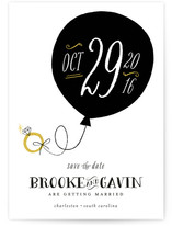 Gold Ring Save the Date Cards
