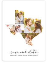 Texas Love Location Save The Date Cards