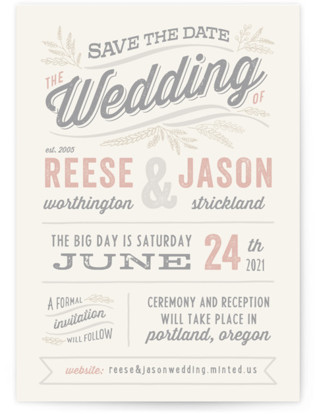Rustic Charm Save the Date...