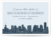 Big City- Vancouver Save The Date Cards